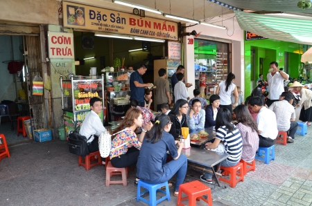 Food stall in Vietnam street