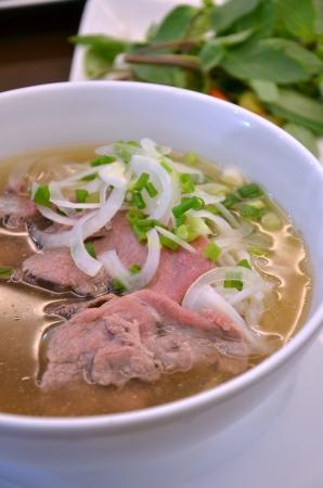 thai noodle soup: Vietnam rice noodle