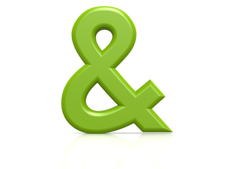Ampersand sign green photo