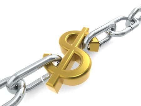 Dollar chain gold photo