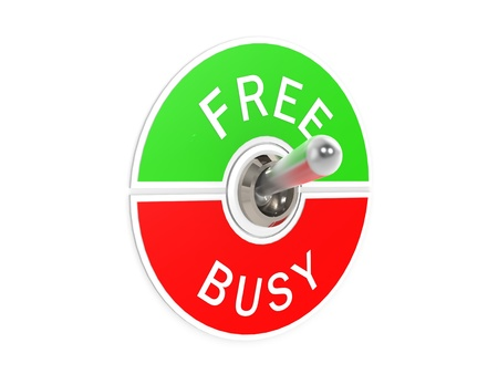Free busy toggle switch Stock Photo
