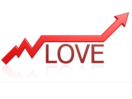 Love graph Stock Photo - 21462136
