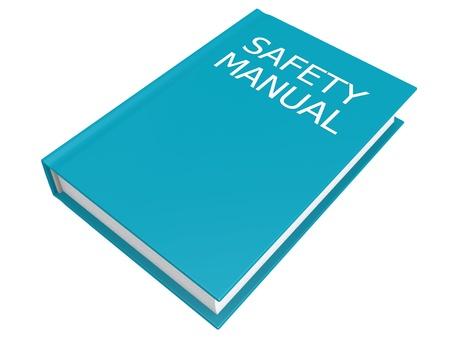 安全マニュアル本 写真素材