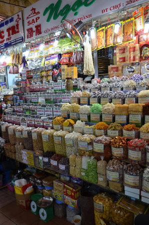Grocery stall in Vietnam market