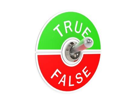 true false: True false toggle switch