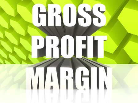 financial statement: Gross Profit Margin Stock Photo