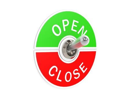 Open close toggle switch photo