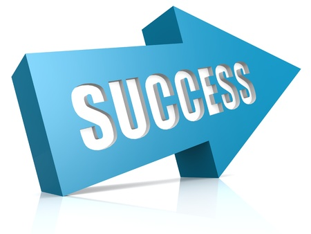 Blue success arrow photo
