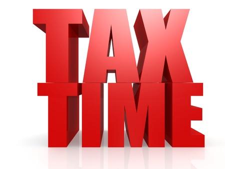 Tax time Standard-Bild