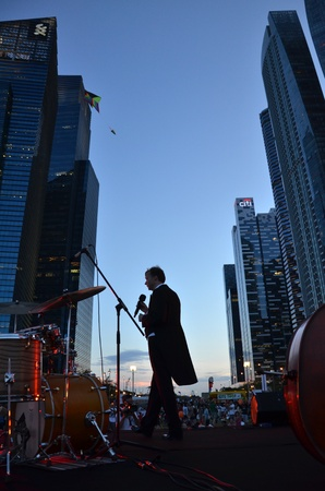 live performance: Live performance in kite festival, Singapore Editorial