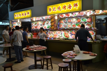 singapore culture: Hawker center in Singapore