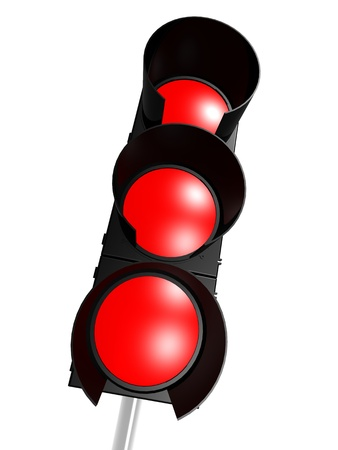 Traffic light with red photo