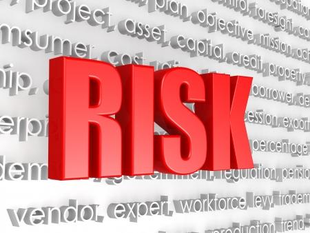 Risk word 写真素材