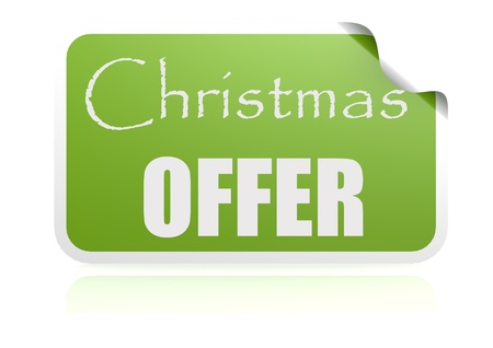 Christmas offer green sticker photo