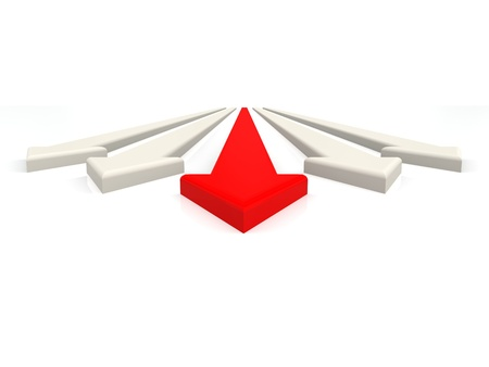 Red leading arrow photo
