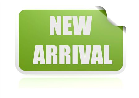 new arrival: New arrival green sticker
