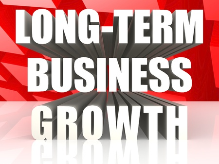 widely: Long-term business growth Stock Photo