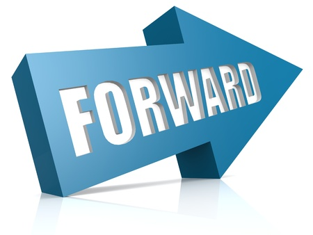 Forward blue arrow photo