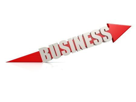 Red business arrow photo
