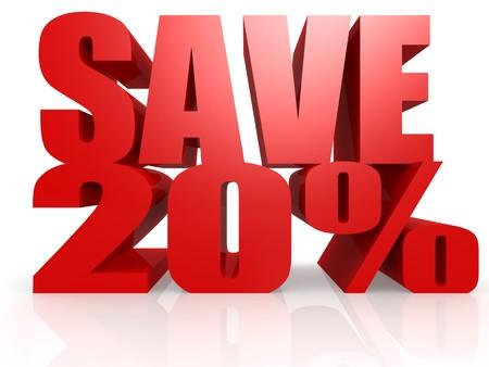Save 20 percent photo
