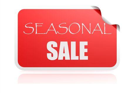 Seasonal sale red sticker photo