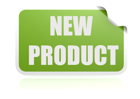 New product green sticker