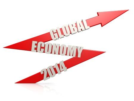 better chances: Global economy 2014 arrow