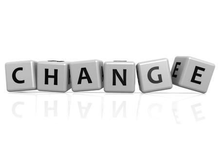digital composite: Change randam buzzword Stock Photo