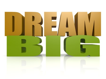 dream planning: Dream big Stock Photo