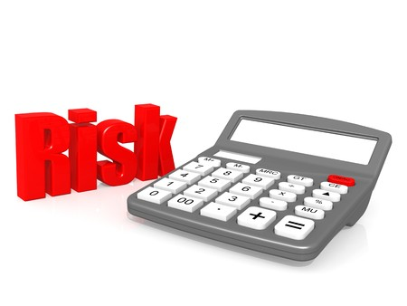 Risk with calculator photo