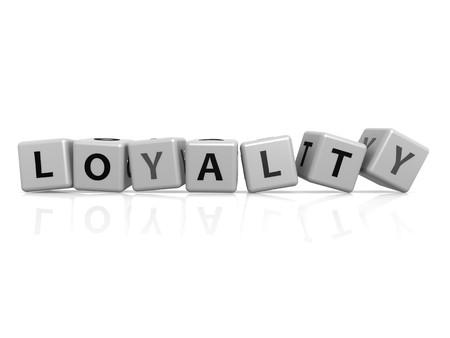 trustworthiness: Loyalty  buzzword Stock Photo