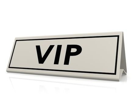 VIP table sign photo