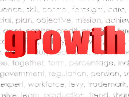 critique: Growth word cloud Stock Photo