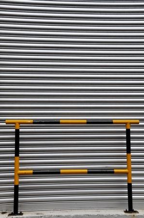 barricade: Metal door with barricade