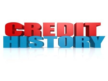 credit report: Credit History Stock Photo
