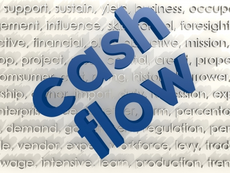 time deficit: Cash flow Stock Photo