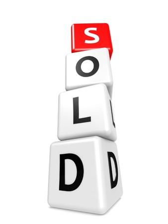 buzzword: Buzzword sold Stock Photo