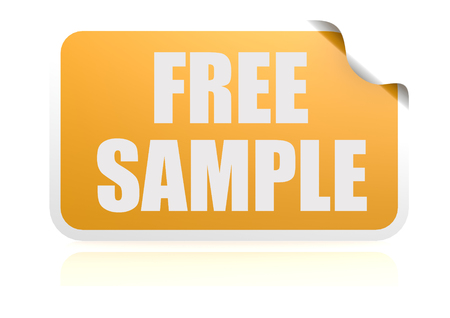 Free sample yellow sticker photo