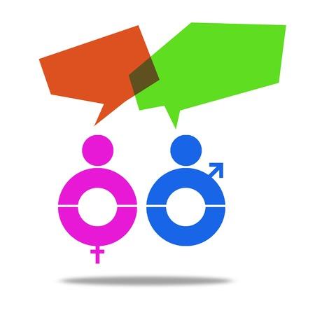 male and female: Male female talking Stock Photo