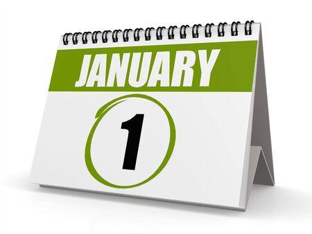 almanac: January 1 green