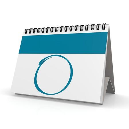 Blank blue calendar photo