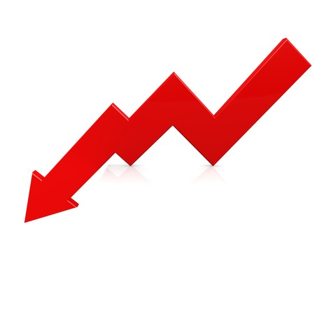 Crisis arrow red