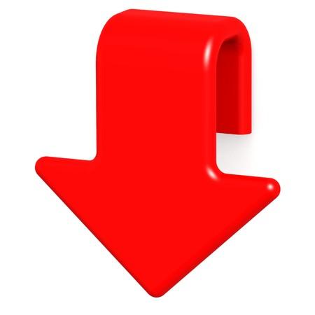 Red arrow down photo