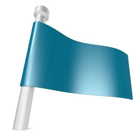 flagpole: Blue flag