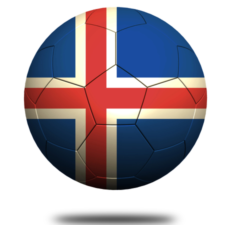 footie: Iceland soccer Stock Photo