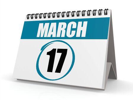 march 17: March 17 calendar