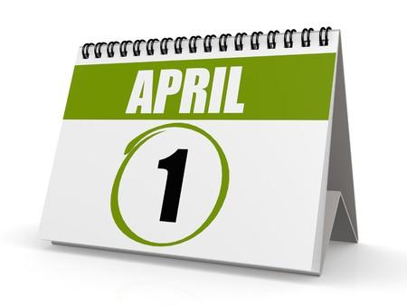 April 1 calendar photo