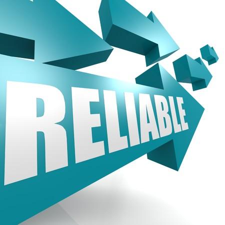 credible: Reliable arrow blue