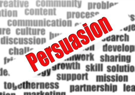 perceived: Persuasion word cloud