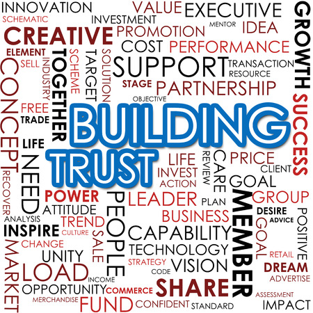 Building trust word cloud photo